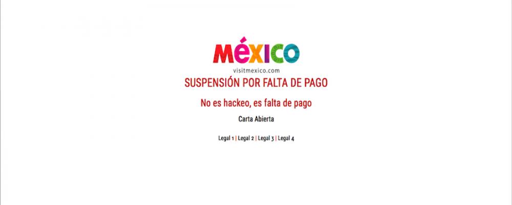 La tragicomedia de fin de semana llamada VisitMexico